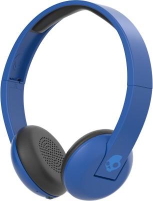 Skullcandy Uproar Bluetooth Headset with Mic(Blue, Wireless over the head)