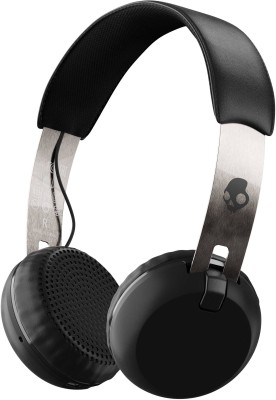 Skullcandy Grind Bluetooth Headset with Mic(Black Chrome, On the Ear)