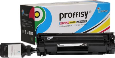proffisy Easy Refill 78A for CE278A Toner Cartridge Compatible HP P1566,1606DN, Canon LBP-6200D,6230DW Single Color Ink Cartridge(Black)
