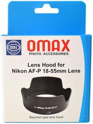 Omax For Nikkor AF P 18 55mm VR  Lens Hood 55 mm, Black