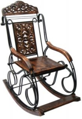 CRUZ INTERNATIONAL Solid Wood 1 Seater Rocking Chairs(Finish Color - BROWN)