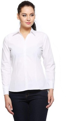 People Women Solid Casual White Shirt