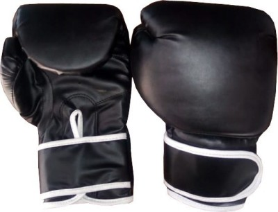 Monika Sports Boxing gloves for practice Boxing Gloves (Free Size, Black)