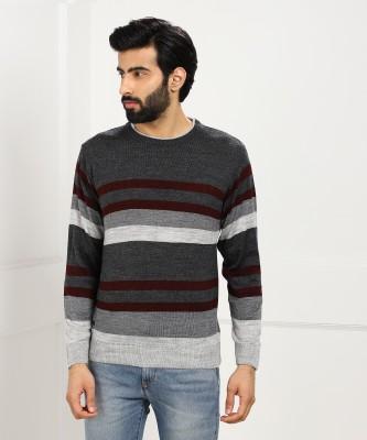 Duke Solid Round Neck Casual Men Multicolor Sweater