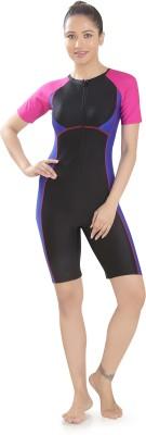 Rovars Female Swimwear Kneesuit Solid Women Swimsuit Rovars Women's Swimsuits