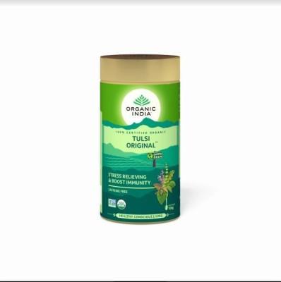 Organic India Tulsi Original 100 GM Tin Tulsi Herbal Infusion Tin(100 g)