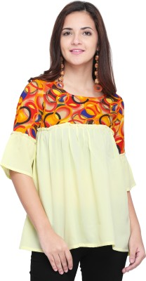 Oomph! Party Bell Sleeve Color Blocked Women