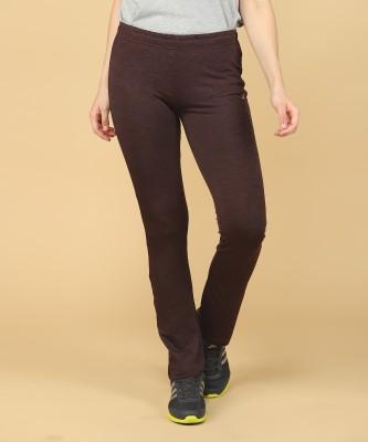 ADIDAS Solid Women Maroon Track Pants at flipkart