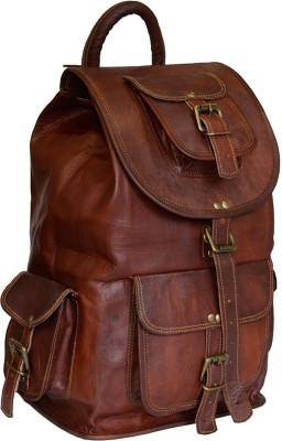 19% OFF on The Artists Creation Genuine Leather Spacious Bag Luggage Hiking  Camping Travel Rucksack 1d6d8d5c43