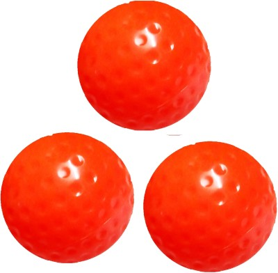 Arnav Superior Quality Red Dimple Turf Ball for Practice and Match Hockey Ball(Pack of 3, Red)