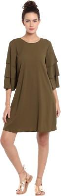 Vero Moda Women's A-line Green Dress