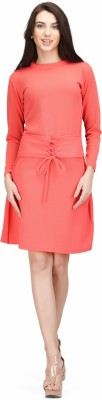 House Of JAS Women Drop Waist Pink Dress