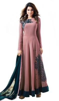 e1bfbec3097e Fashions Bazaar Anarkali Gown(Pink)