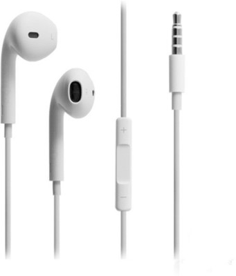 TopamTop Premium Quality High Selling Earphone Wired Headset with Mic(White, In the Ear)
