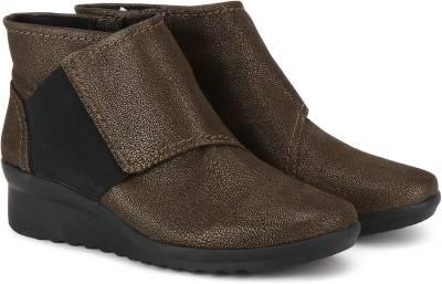 Clarks Caddell Rush Bronze Boots For Women