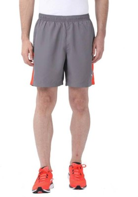 Puma Solid Men Grey, Orange Running Shorts