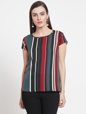 DARZI Casual Cap Sleeve Printed Women Multicolor Top DARZI Women's Tops