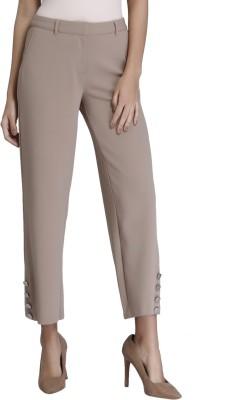 Vero Moda Regular Fit Women Brown Trousers