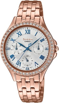 Casio SX218 Sheen Analog Watch  – For Women
