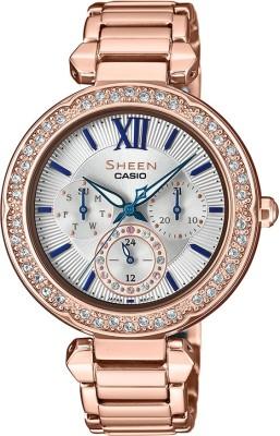 Casio SX227 Sheen ( SHE-3061PG-7BUDF ) Analog Watch - For Women