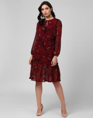 SHOPISTOP.COM Women Fit and Flare Black Dress