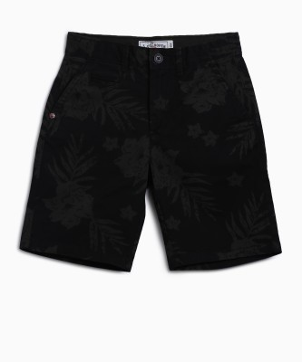 Lee Cooper Short For Boys Casual Printed Cotton(Black, Pack of 1) Flipkart