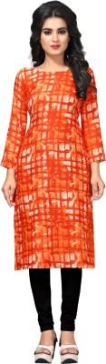 kurti Casual Printed Girls Kurti(Orange) Flipkart