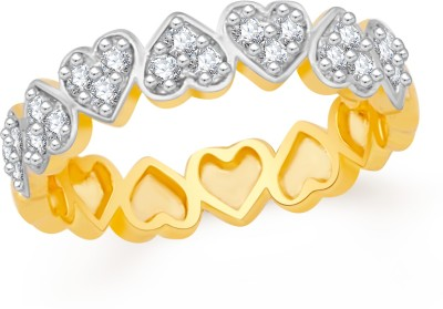 VK Jewels Heart Pattern Brass, Alloy Cubic Zirconia Gold-plated Plated Ring