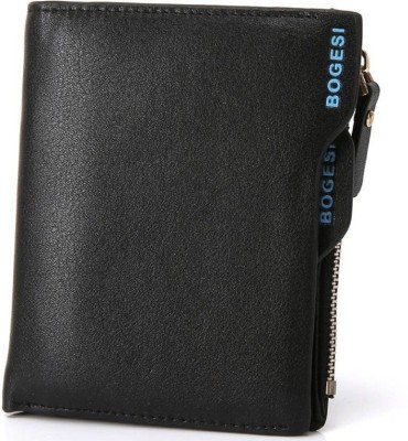 Bogesi Men Casual Black Artificial Leather Wallet 7 Card Slots