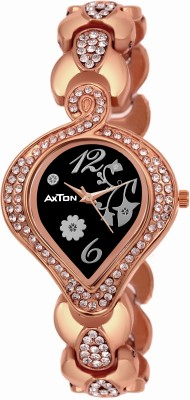 AXTON DMLV-CL-1001 Black Dial Stone Stud Partywear Exclusive Analog Watch  - For Women