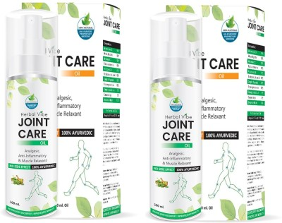 HERBAL VIBE Care Joint Pain Massage Oil Liquid(200 ml)