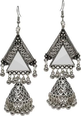 PEORA Triangle Mirror Alloy Jhumki Earring PEORA Earrings