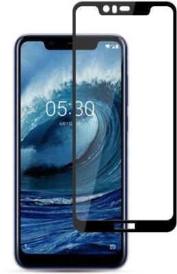 BlackBug Tempered Glass Guard for Nokia 5.1 Plus (Black) Screen Protector,Screen Guard,(Clear HD) 0.3mm, 2.5D
