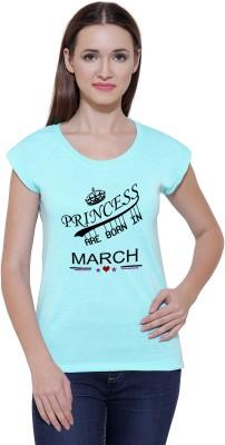 Snoby Graphic Print Women Round Neck Green T-Shirt Flipkart