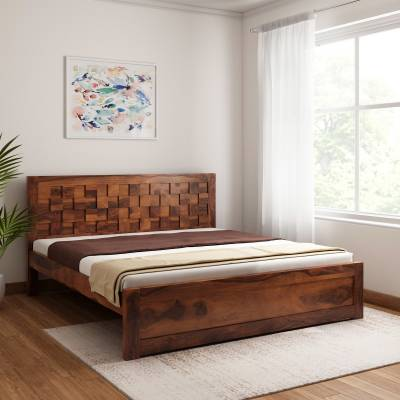 Vintej Home Prague Sheesham Solid Wood King Bed
