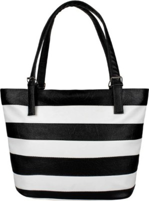 Avni's Women White, Black Hand-held Bag