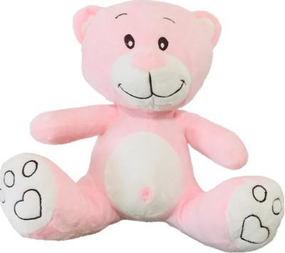 CREATIVEVILLA CUTE PINK TEDDY BEAR STUFFED PLUSH SOFT TOY CVST9502   28 cm Multicolor CREATIVEVILLA Soft Toys
