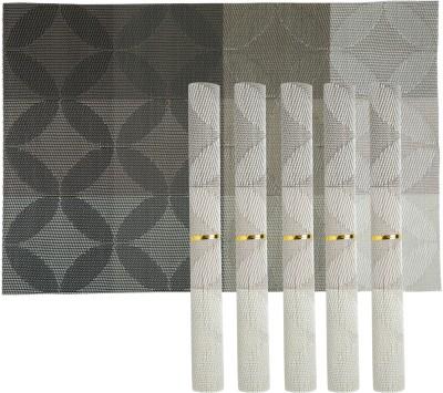 Tuelip Rectangular Pack of 6 Table Placemat(Multicolor, PVC (Polyvinyl Chloride)) at flipkart