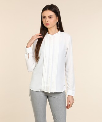 Van Heusen Casual Full Sleeve Solid Women