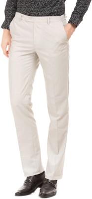 Arrow Slim Fit Men White Trousers at flipkart