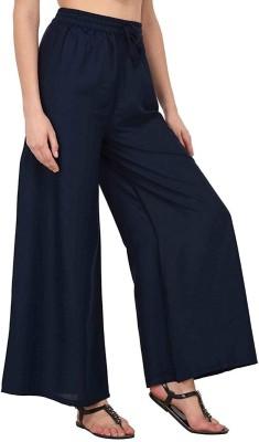 yolki Relaxed Women Blue Trousers Flipkart