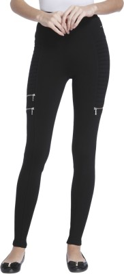 Biba Regular Fit Women Black Trousers