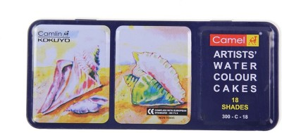 Camel Artist Water Colour Cakes - 18 Shades
