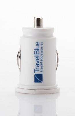 Travel Blue 2.1 amp Turbo Car Charger(White) at flipkart
