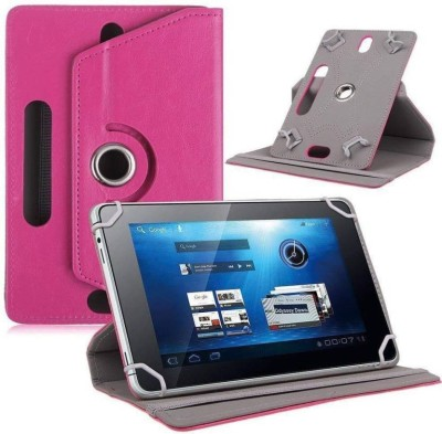 """Cutesy Flip Cover for Samsung Galaxy Tab E Lite 7.0"""" 8GB (Wi-Fi)(Pink, Cases with Holder)"""
