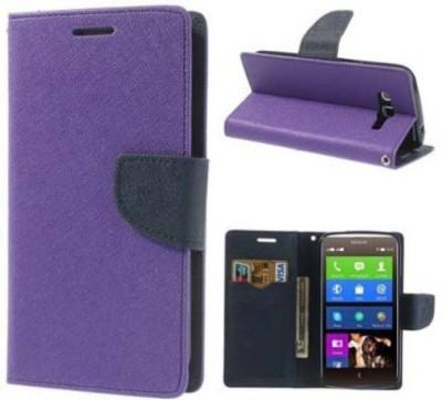 E TREE Flip Cover for OnePlus 2 Purple
