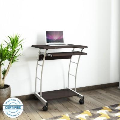 Nilkamal Leo Engineered Wood Computer Desk(Curved, Finish Color - Walnut)