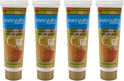 EVERYUTH NATURALS Golden Glow Peel-Off Mask 90g x 4 Combo of 4(360 g)