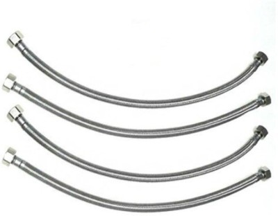 AO Smith Heavy Stainless Steel Connection Pipe, 24 Inch (600mm) – Pack of 4 Hose Connector
