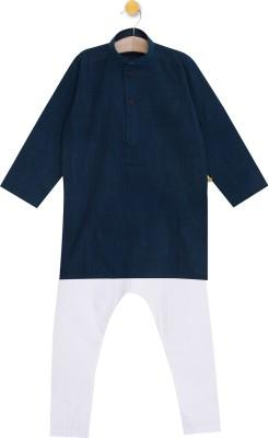 Aomi Boys Festive & Party Kurta and Pyjama Set(White Pack of 1) Flipkart